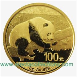 Chine - Gold coin BU 8g, Panda, 2016 (Sealed)