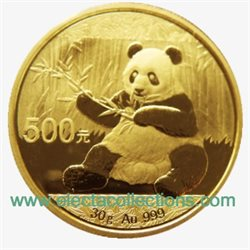 China - Gold coin BU 30g, Panda, 2017 (Sealed)