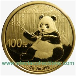 China - Gold coin BU 8g, Panda, 2017 (Sealed)