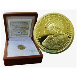 Griechenland 100 Euro Mini Goldmunze Göttin Athena 2017
