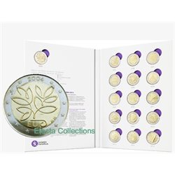 Finland – 2 Euro collection, 16 coins 2004-2014 BU