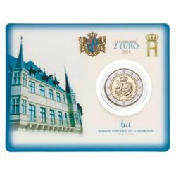 Luxemburg - 2 Euro, 50th Ann. Grand Duke Jean, 2014 (coin card)