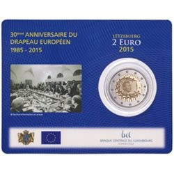 Luxemburg – 2 Euro, European Flag, 2015 (coin card)
