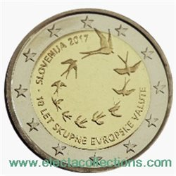 Slovenia – 2 Euro, Introduction of the euro, 2017 (proof)