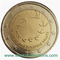 Slovenia – 2 Euro, Introduction of euro, 2017 roll 25 coins