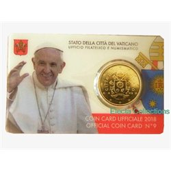 Vatican - 50 Cent, COIN CARD - N. 9 ANNEE 2018