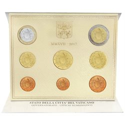 Vatican - Official Euro coin set BU 2017