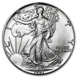 United States - Silver coin BU 1 oz, American Eagle, 1987
