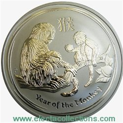 Australia -  10 X Argento 1 oz, Year of the Monkey, 2016