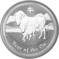 Australia -  Moneta d'argento BU 1 oz, Year of the Ox, 2009