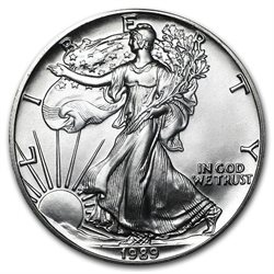 United States - Silver coin BU 1 oz, American Eagle, 1989