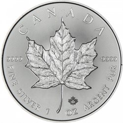 Canada - 100 X 1 oz argent  Maple Leaf BU (Annee mixte)