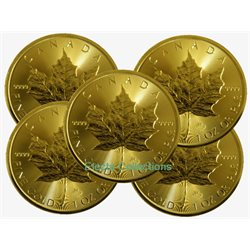 Canada - 10 X Gold coin BU 1 oz, Maple Leaf (annee mixte)