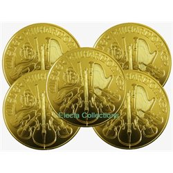 Autriche - 5 X 100 Euro, Philharmonic 1 oz OR (annee mixte)