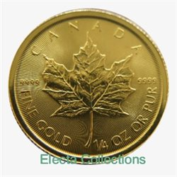 Canada - Gold coin BU 1/4 oz, Maple Leaf, 2017