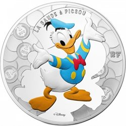 France - 10 Euro Silver proof, Donald Duck, 2017
