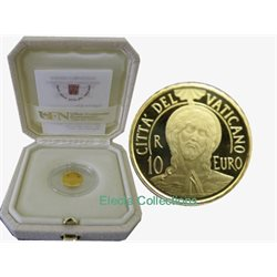 Vatican - 10 Euro Gold proof, Baptism, 2017
