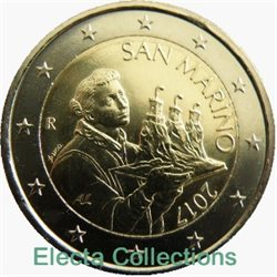 San Marino – 2 Euro, the portrait of St. Marino, 2017