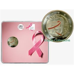France - 2 Euro, Fight against breast cancer, 2017 (coin card)