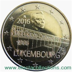 Luxembourg - 2 Euro, PONT CHARLOTTE, 2016 (BU in capsule)