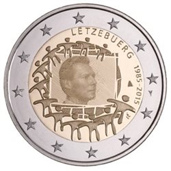 Luxemburg 2 Euro 30 Jahre Europaflagge 2015 Rolls 25 Coins