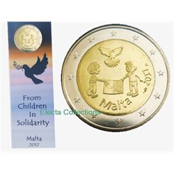 Malta - 2 Euro, PEACE, 2017 (coin card MdP)