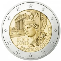 Autriche - 2 Euro, Founding of the Republic, 2018