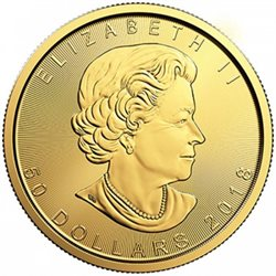 Canada - Gold coin BU 1 oz, Maple Leaf, 2018