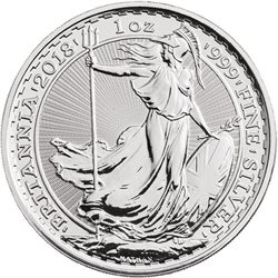 Royaume Uni - £2 Britannia One Ounce Silver Bullion, 2018