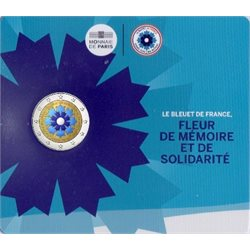 France - 2 Euro, Le Bleuet de France, 2018 (coin card)
