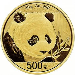 Chine - Gold coin BU 30g, Panda, 2018 (Sealed)