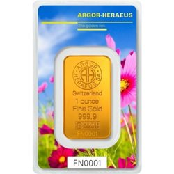 Gold Bar Argor Heraeus 1 oz 999.9/1000 (Spring)