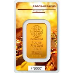 Gold Bar Argor Heraeus 1 oz 999.9/1000 (Autumn)