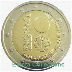 Estonia – 2 Euro, 100 years Republic, 2018