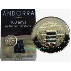 Andorra - 2 Euro, 100th Ann. of the Andorran Anthem, 2017