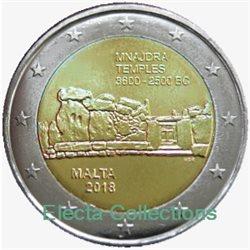 Malta 2 Euro Megalithic Temple Of Mnajdra 2018