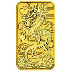 Australia - Gold coin BU 1 oz, Dragon, 2018 (rectangular)