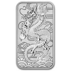Australie - Piece d' argent BU 1 oz, Dragon rectangular, 2018