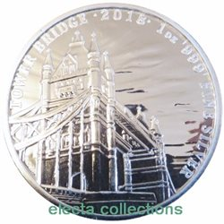 Great Britain - Tower Bridge Silver coin 1 oz BU, 2018