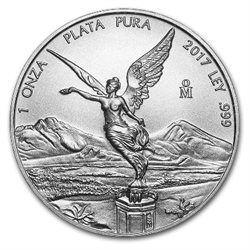 Mexique - Silver coin BU 1 oz, Libertad, 2017