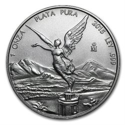 Mexique - Silver coin BU 1 oz, Libertad, 2015
