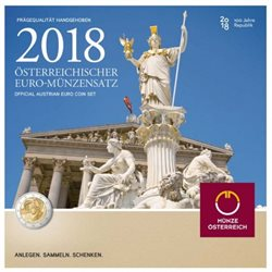 Austria - Euro coins, Official BU set 2018