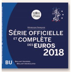 France - Serie Officiel BU Monnaies Euro 2018