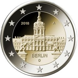 Germany - 2 Euro, BERLIN - Charlottenburg, 2018
