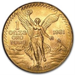 Messico - Gold coin BU 1 oz, Libertad, 1981 (first issue)