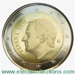 Spagna - 2 Euro, New King Felipe VI, 2015