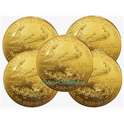Etats-Unis - 5 X 1 oz gold US Eagle (annee mixte)