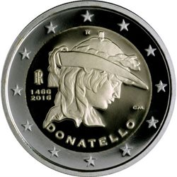 Italia - 2 Euro DONATELLO, 2016 (BU in capsule)