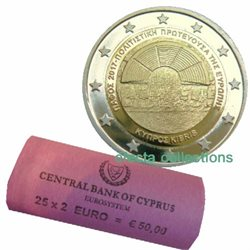 Cyprus – 2 Euro Paphos, 2017 - rolls 25 coins