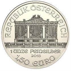 Osterreich 150 εuro Wiener Philharmoniker Silber 2018